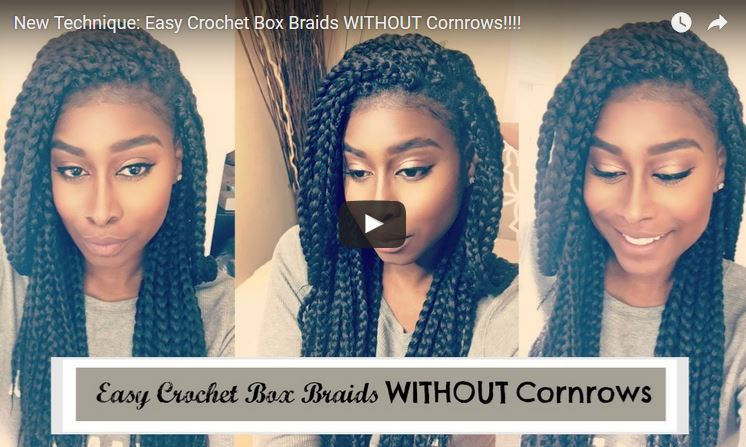New Easy Crochet Box Braids Without Cornrows Sassy Plum